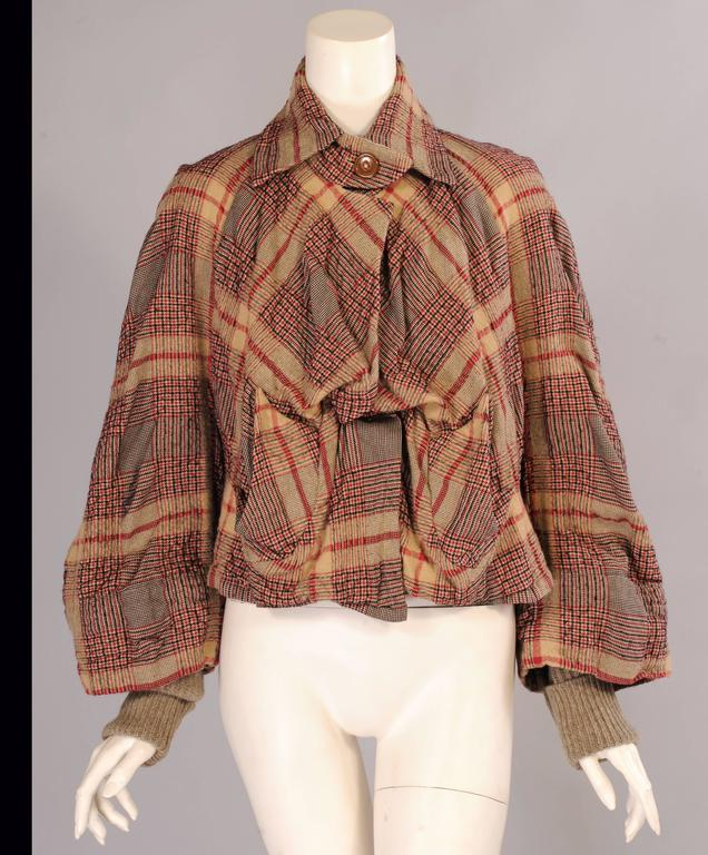 Rowes Furniture Vivienne Westwood Anglomania Plaid Jacket For Sale at 1stdibs