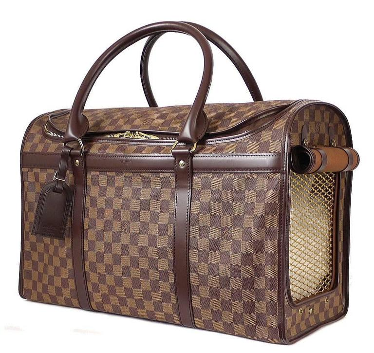 Louis Vuitton Damier Special Order Dog Carrier 50 Rare For