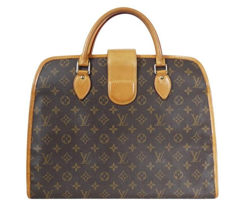 Brown Louis Vuitton Monogram Rivoli Briefcase Business Bag
