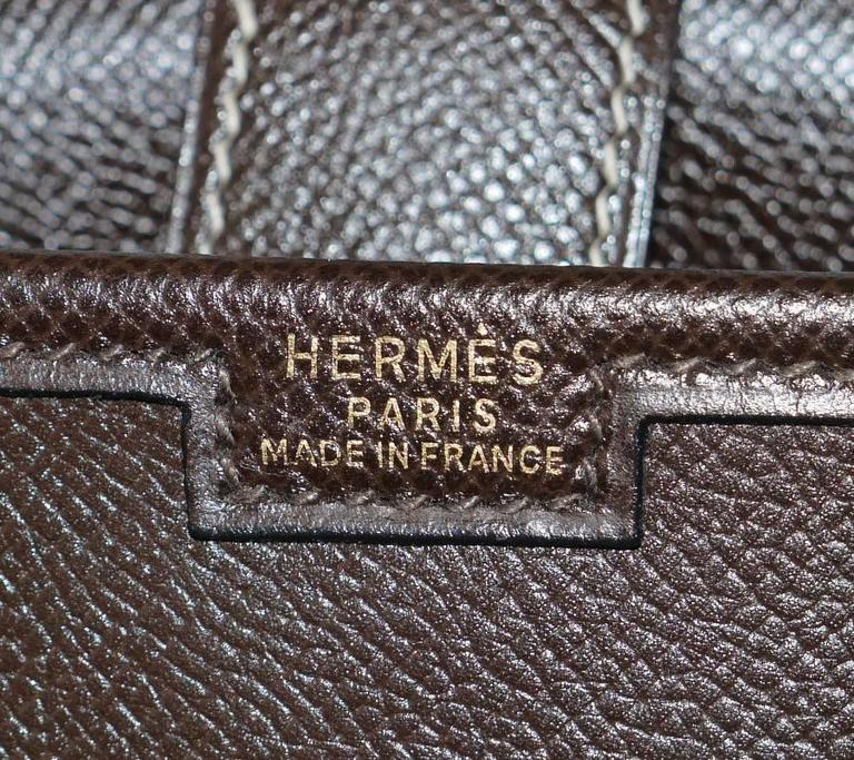 1980s Hermes Couchevel Oversized Jige GM Clutch Bag For Sale 4