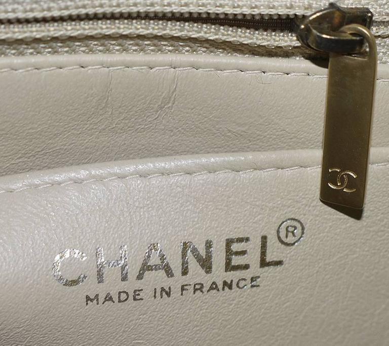 Chanel Bicolor Calfskin Classic Cross Body Flap Bag  For Sale 1