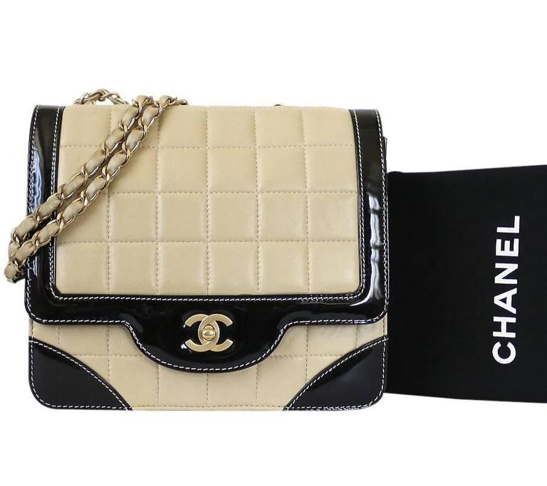 Chanel Bicolor Calfskin Classic Cross Body Flap Bag  For Sale 5