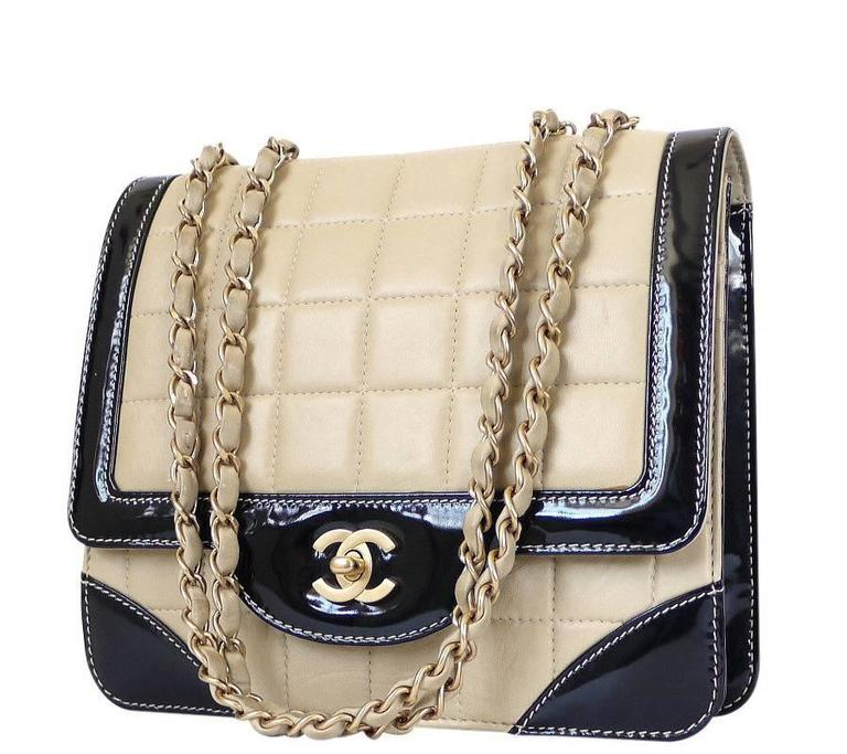 Chanel Bicolor Calfskin Classic Cross Body Flap Bag  For Sale 4