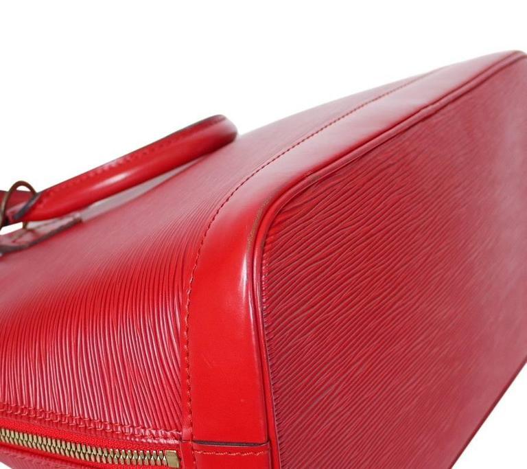 Louis Vuitton Epi Alma Handbag, Tote Red  7