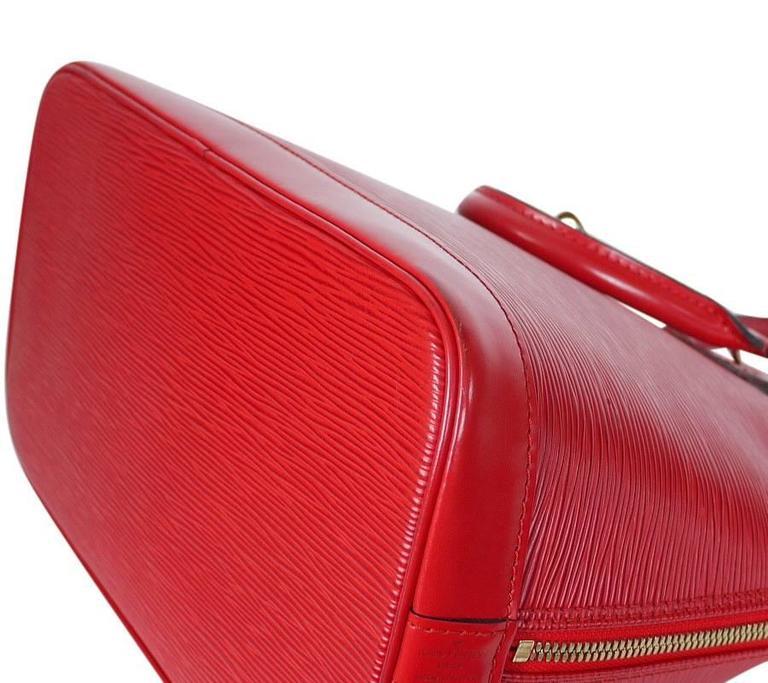 Louis Vuitton Epi Alma Handbag, Tote Red  6