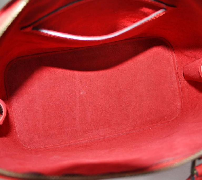 Louis Vuitton Epi Alma Handbag, Tote Red  8