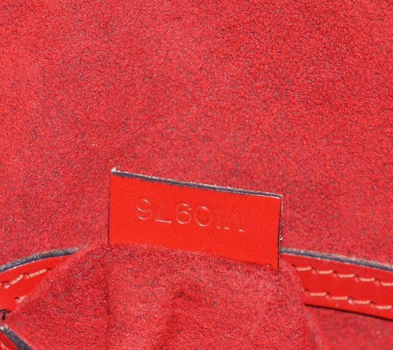 Louis Vuitton Epi Alma Handbag, Tote Red  9