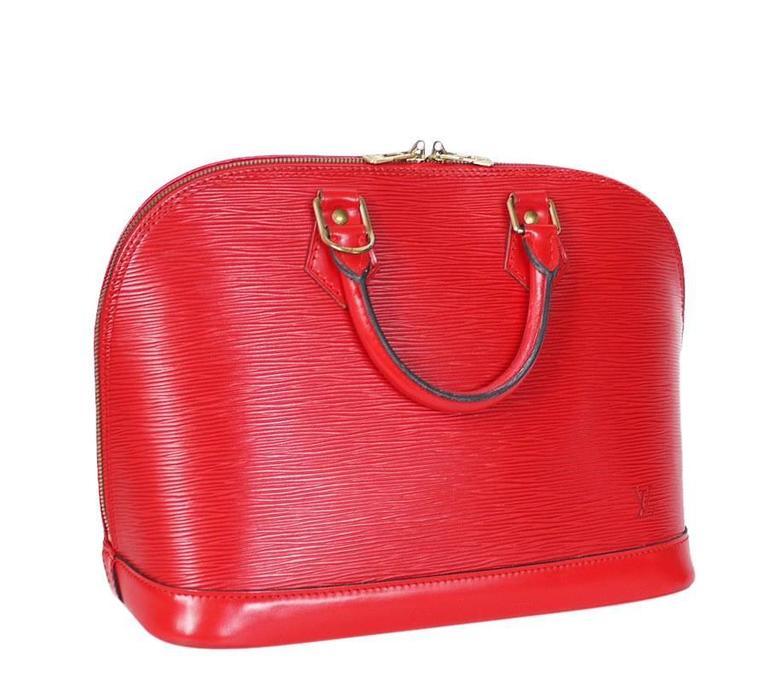 Louis Vuitton Epi Alma Handbag, Tote Red  10