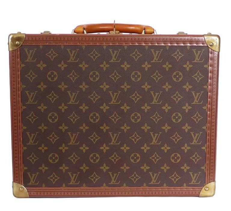 Vintage Louis Vuitton Monogram Cotteville 40 Hard Sided Suitcase  2
