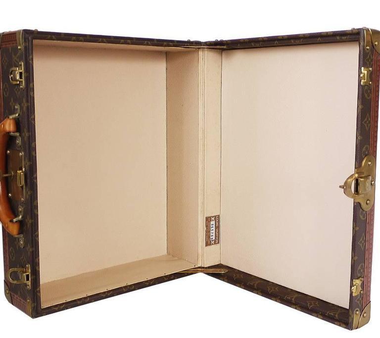 Vintage Louis Vuitton Monogram Cotteville 40 Hard Sided Suitcase  For Sale 2