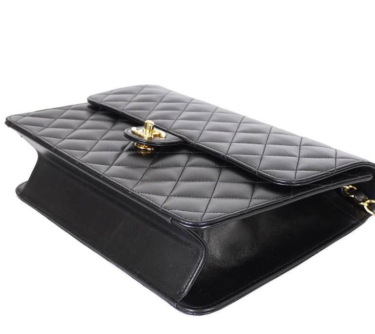 67926f2ded6e Women s Chanel Black Lamb Skin 2.55 3way Classic Flap Bag For Sale