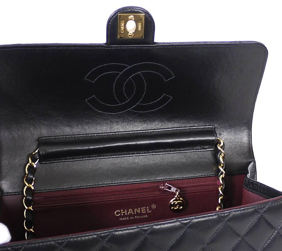 33782731e27e Chanel Black Lamb Skin 2.55 3way Classic Flap Bag at 1stdibs