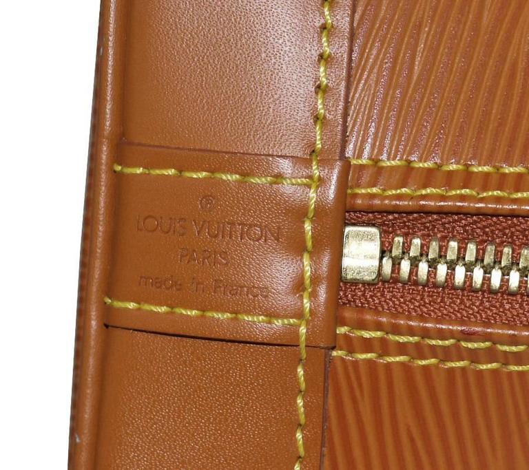 Louis Vuitton Epi Alma Handbag, Tote Zipangu Gold For Sale 3