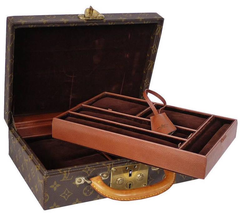 Vintage Louis Vuitton Monogram Jewellery Case Trunk M47140 For