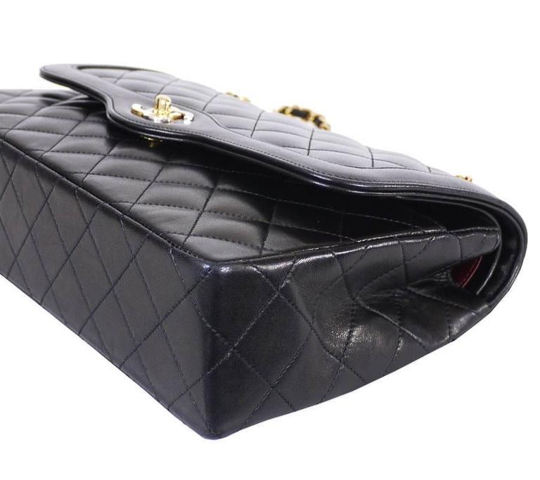 799dd1f9a7f0 Black Vintage Chanel Paris Limited Edition 2.55 Double Flap Classic For Sale