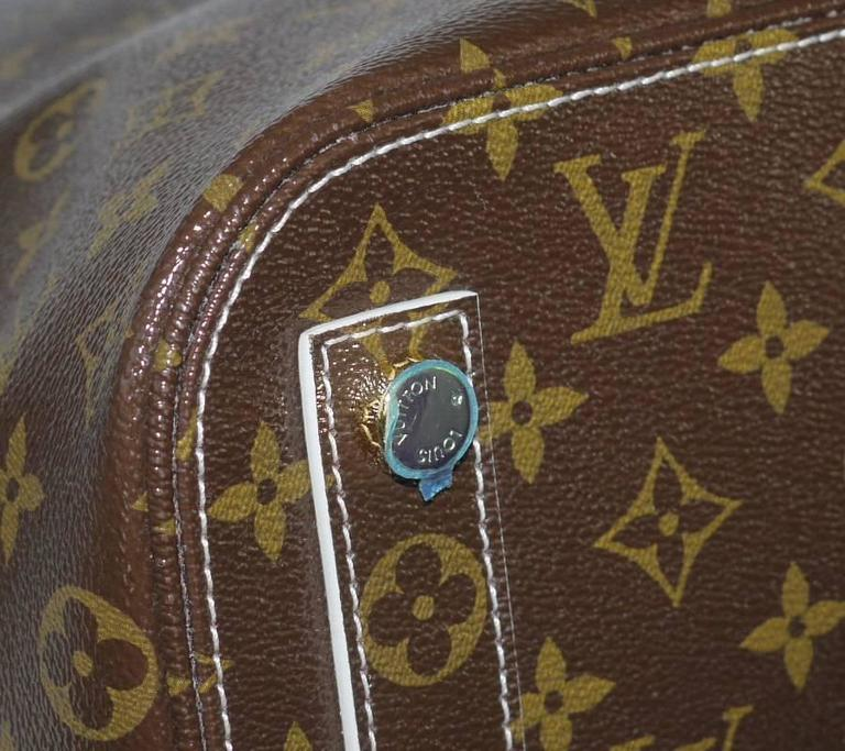 Louis Vuitton Shiny Monogram Fetish Lockit Voyage Travel Bag 5