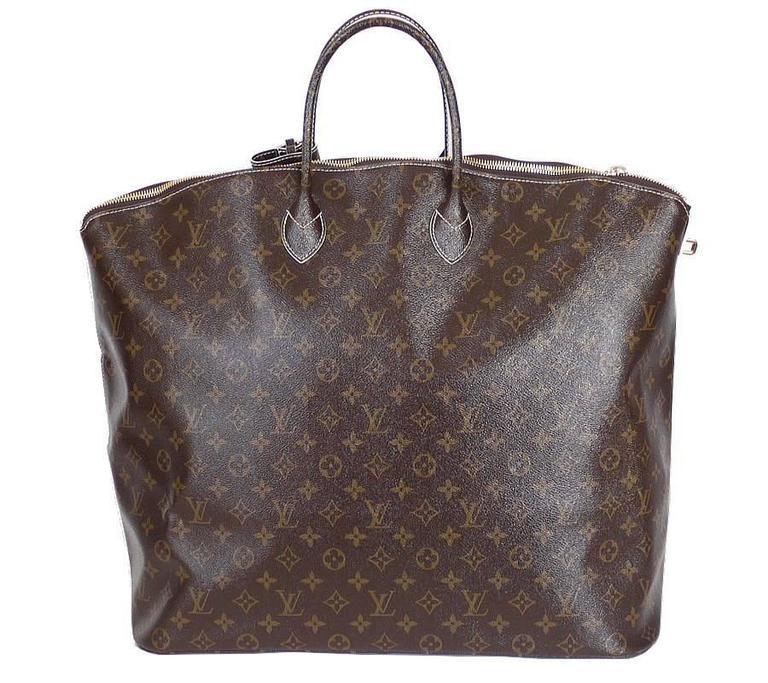 Louis Vuitton Shiny Monogram Fetish Lockit Voyage Travel Bag 2