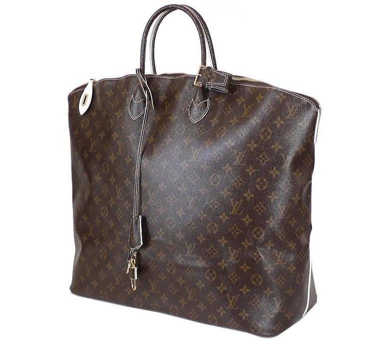 Louis Vuitton Shiny Monogram Fetish Lockit Voyage Travel Bag 4