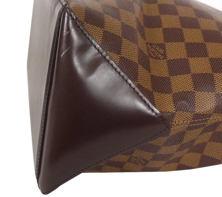 Brown Louis Vuitton Damier Cabas Mezzo Shopping Tote Bag Special Order For Sale