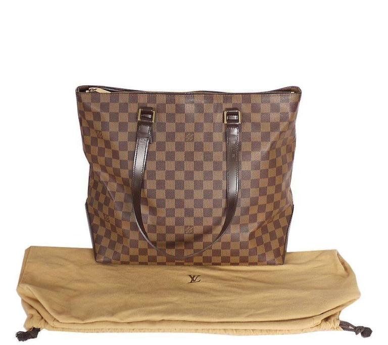 Louis Vuitton Damier Cabas Mezzo Shopping Tote Bag Special Order For Sale 5