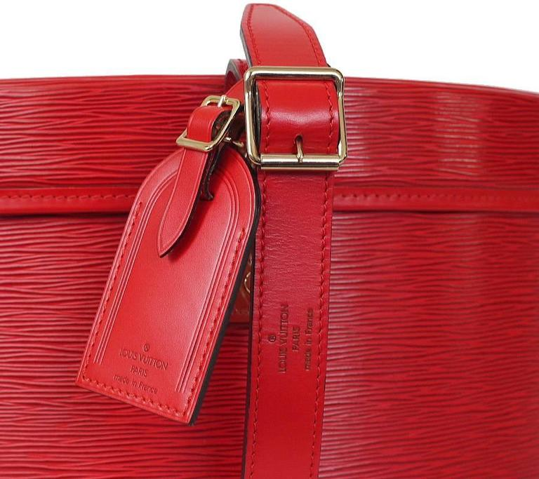 Louis Vuitton Red Epi Boite Chapeaux Hat Box 40 Rare 5