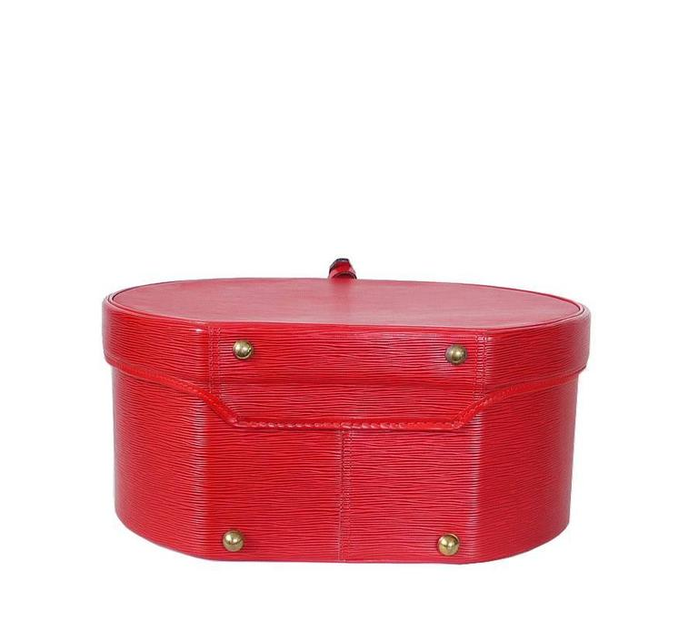 Louis Vuitton Red Epi Boite Chapeaux Hat Box 40 Rare 3