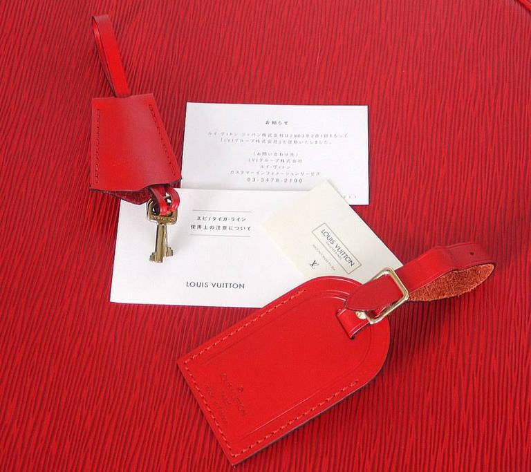 Louis Vuitton Red Epi Boite Chapeaux Hat Box 40 Rare 8