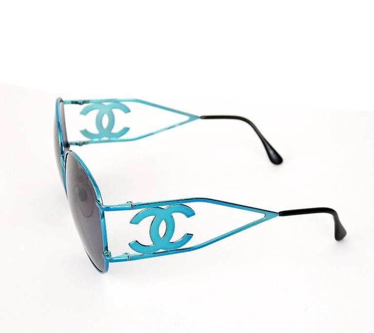Vintage Chanel CC Logo Sungasses Rare For Sale 1