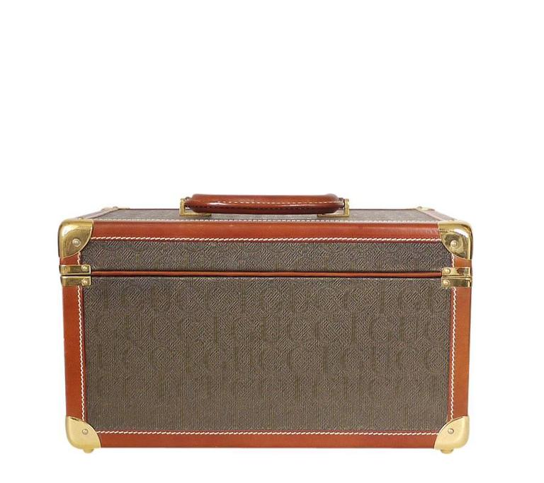 Vintage GUCCI Toiletry Case Travel Trunk Rare 2