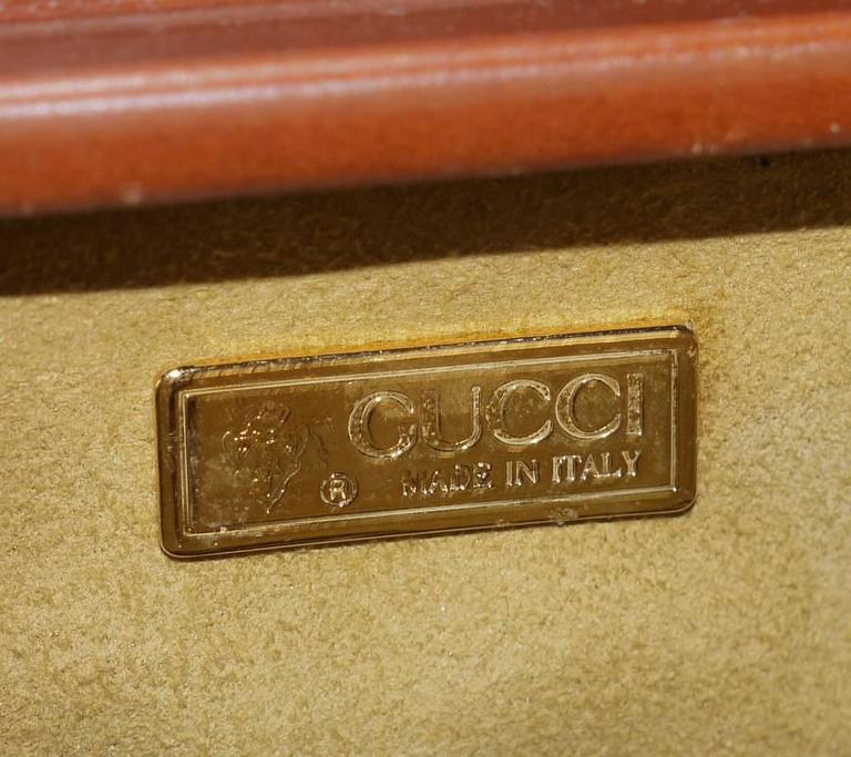 Vintage GUCCI Toiletry Case Travel Trunk Rare 10