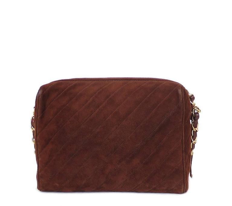 Brown Vintage Chanel Cross Body Tassel Shoulder Bag For Sale