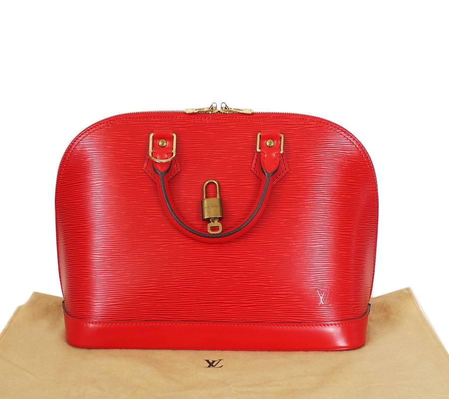 a63407cfebee Louis Vuitton Red Epi Alma Handbag at 1stdibs