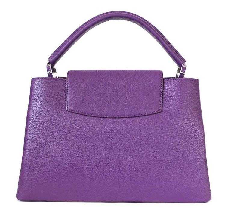 Louis Vuitton Capucines MM Handbag Tote Violet 2
