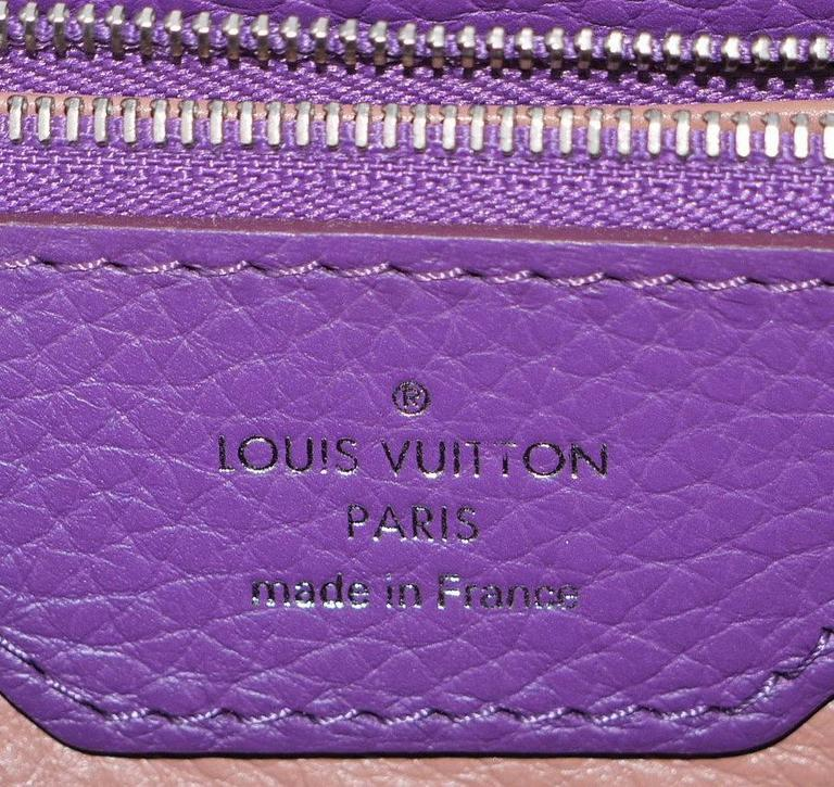 Louis Vuitton Capucines MM Handbag Tote Violet For Sale 4