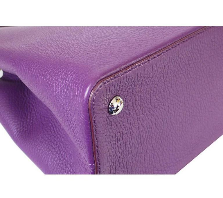 Louis Vuitton Capucines MM Handbag Tote Violet For Sale 1