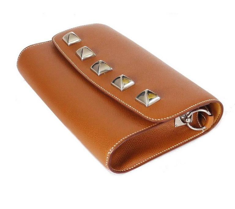 Hermes Couchevel Medor 2way Clutch Shoulder Bag Rare 9