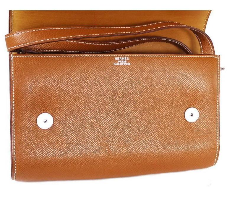 Hermes Couchevel Medor 2way Clutch Shoulder Bag Rare 6