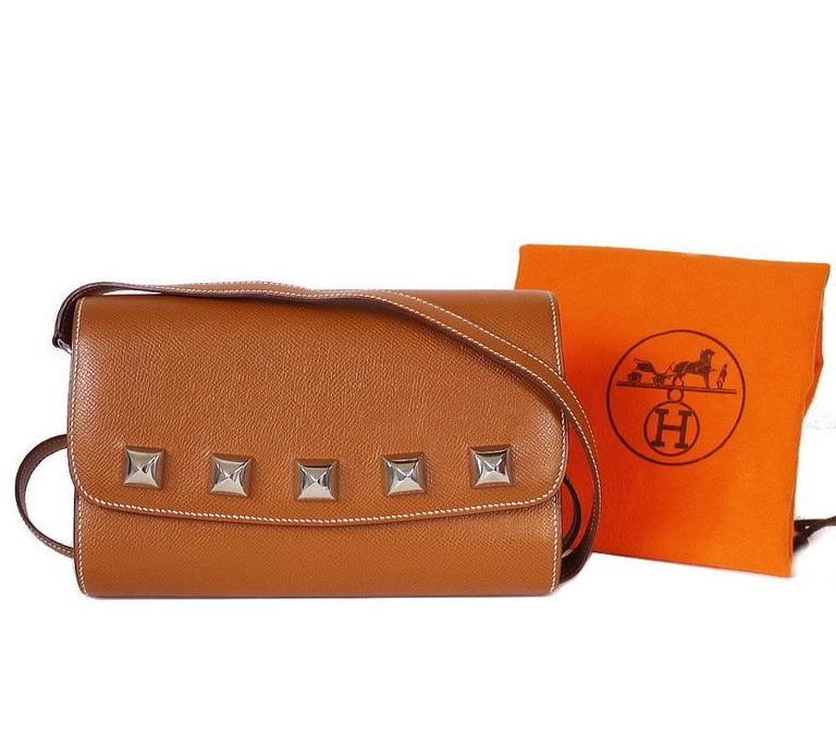 Hermes Couchevel Medor 2way Clutch Shoulder Bag Rare 10