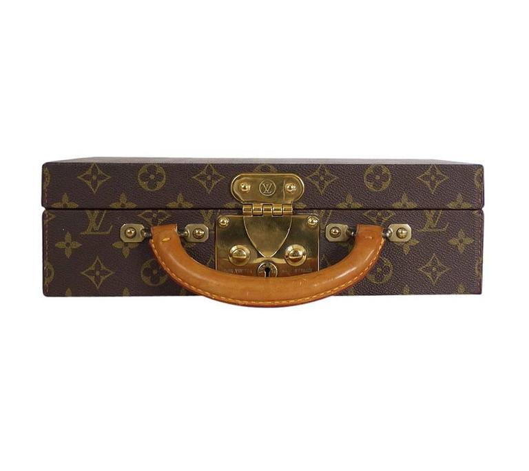 Louis Vuitton Monogram Jewellery Case M47140 Rare In Excellent Condition For Sale In Hiroshima City, JP