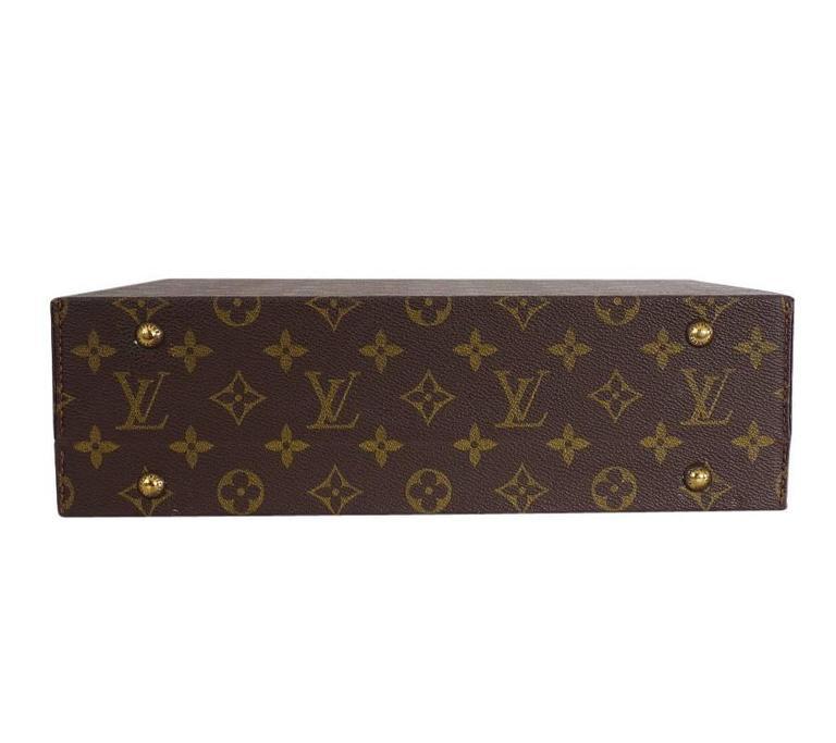 Louis Vuitton Monogram Jewellery Case M47140 Rare For Sale 1
