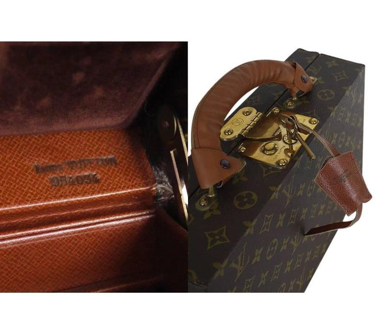 Louis Vuitton Monogram Jewellery Case M47140 Rare For Sale 4