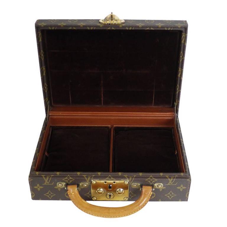 Louis Vuitton Monogram Jewellery Case M47140 Rare For Sale 3