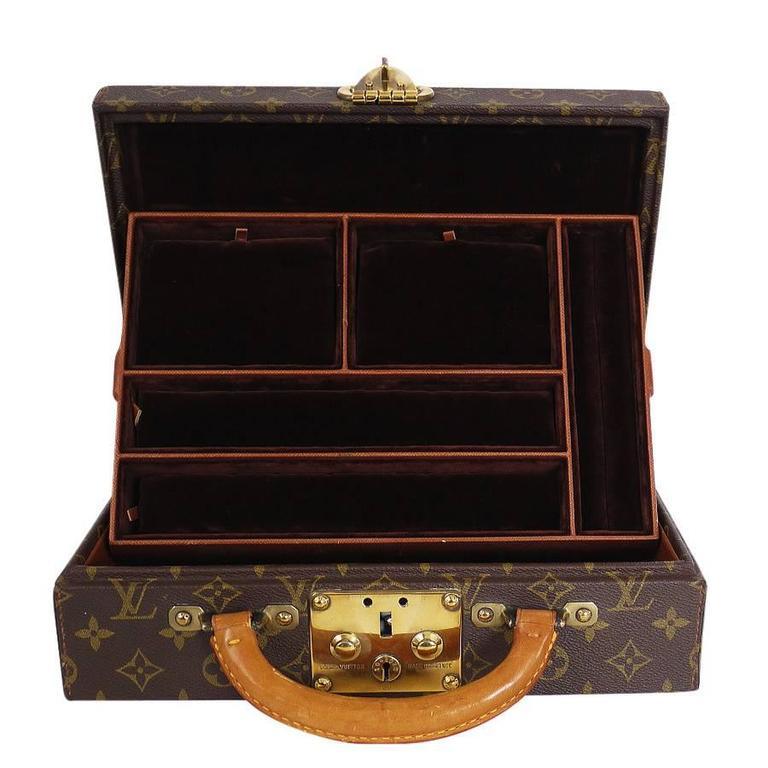 Louis Vuitton Monogram Jewellery Case M47140 Rare For Sale 2