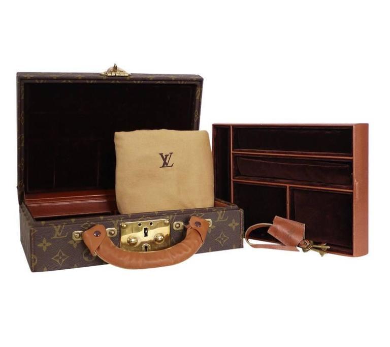 Louis Vuitton Monogram Jewellery Case M47140 Rare For Sale 5