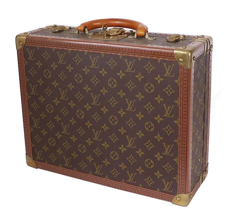 Vintage Louis Vuitton Monogram Cotteville 40 Hard Sided Suitcase  For Sale 3