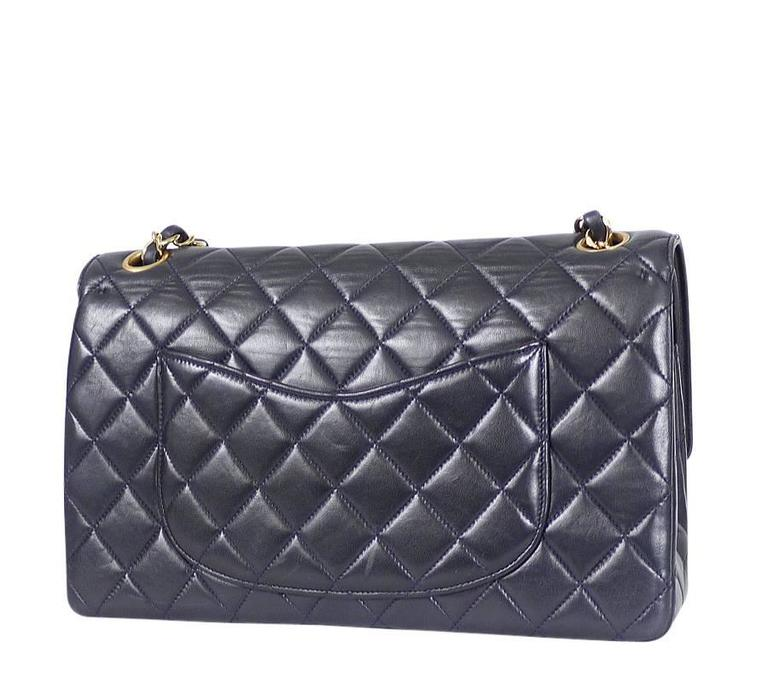 1eeff8578c30 Black Vintage Chanel 2.55 Double Flap Classic Limited Edition Rare Navy For  Sale
