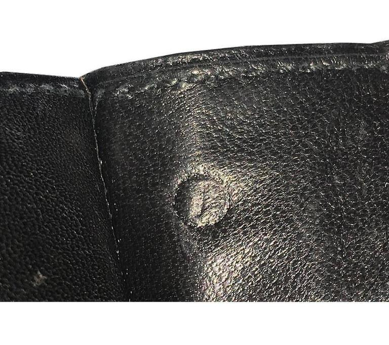 1970s Hermes Black Crocodile Porosus Lisse Lydie 2way Shoulder Rare For Sale 5