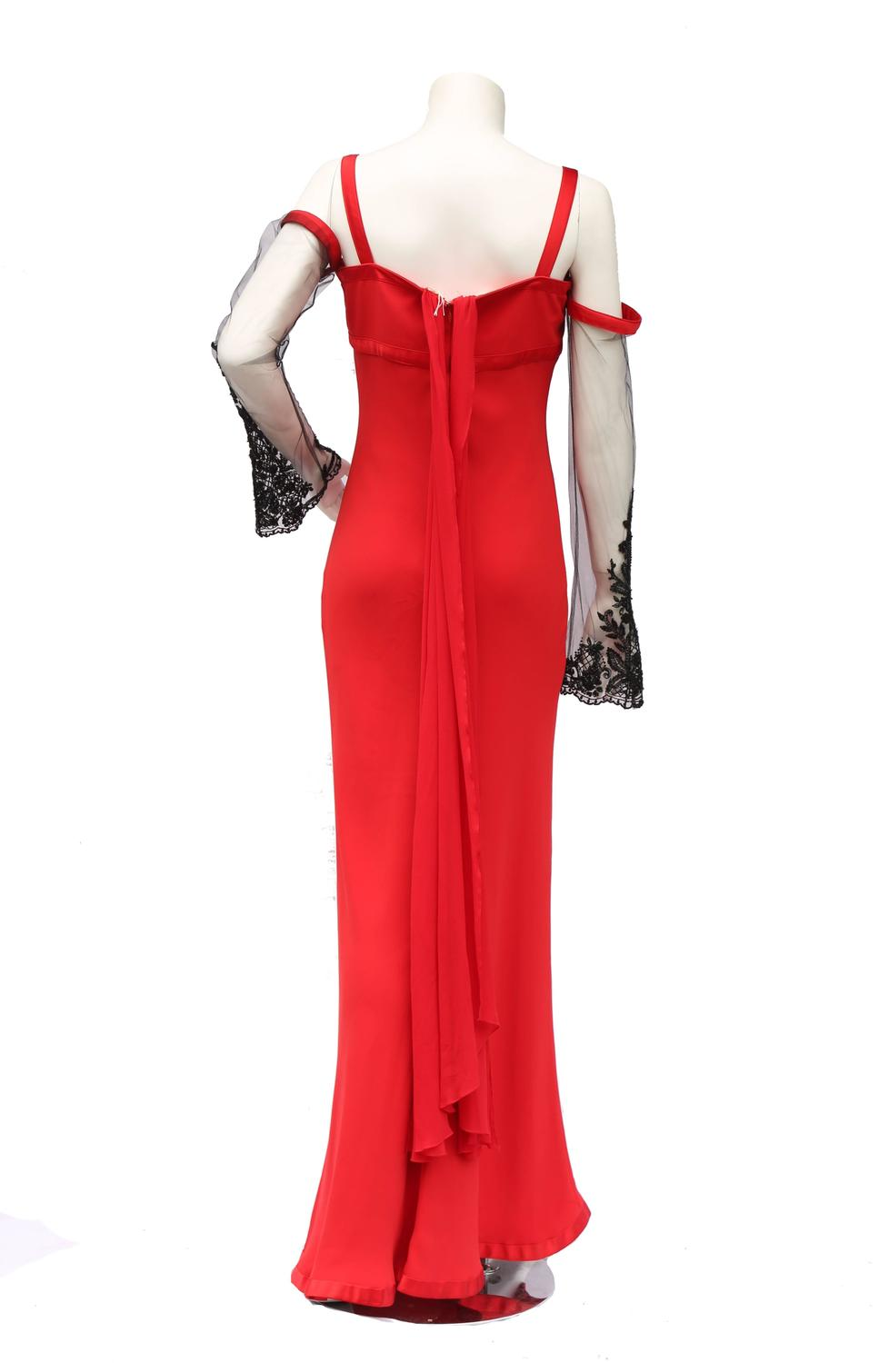 62efcf76a39 Valentino red silk evening gown dress For Sale at 1stdibs