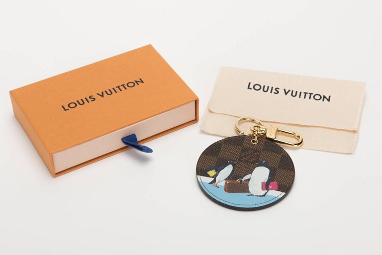 Louis Vuitton sold out penguins limited edition Christmas collection keychain, bag charm . Comes with original dust cover and box.