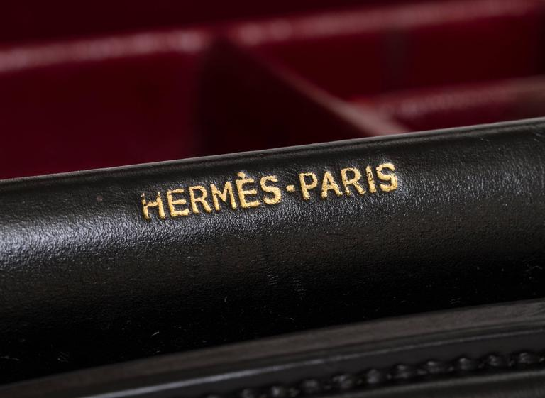 Hermès Rare Men's Leather Toiletry Traveling Briefcase 6